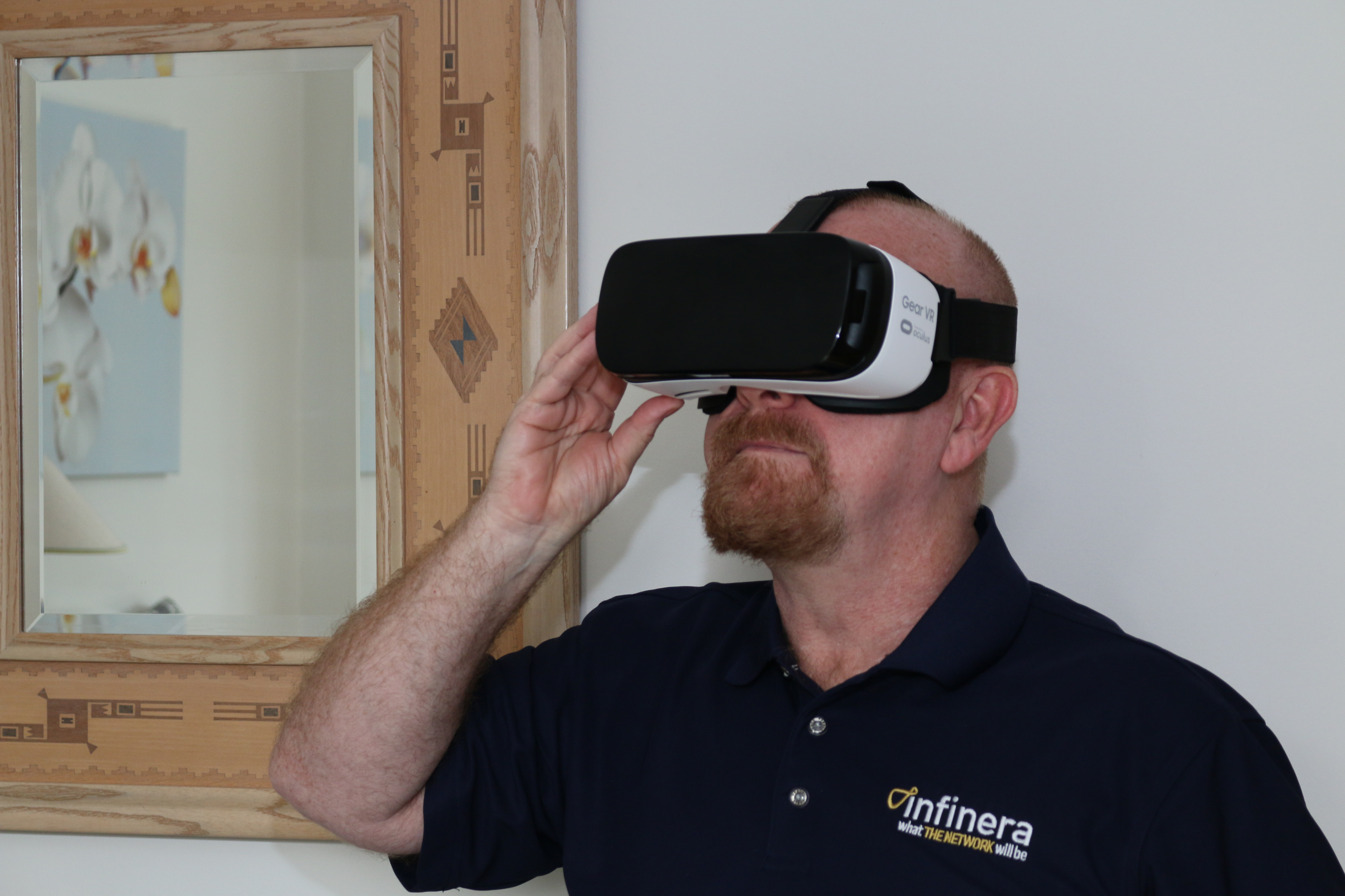 Geoff Bennet in VR Headset