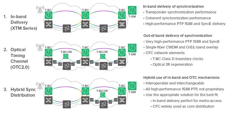 Infinera's synchronization options in DWDM transport networks
