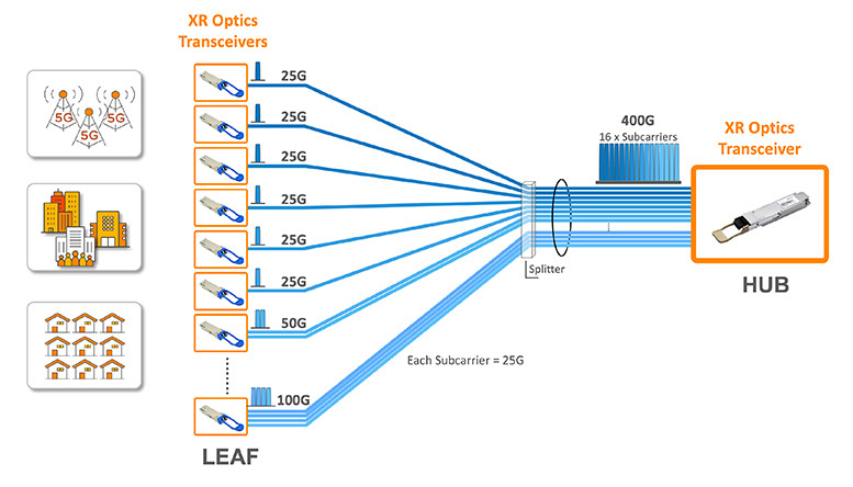 Point-to-multipoint XR optics in action