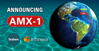 Seaborn Deploys Infinera to Launch AMX-1 Submarine Network Services Connecting US and Brazil