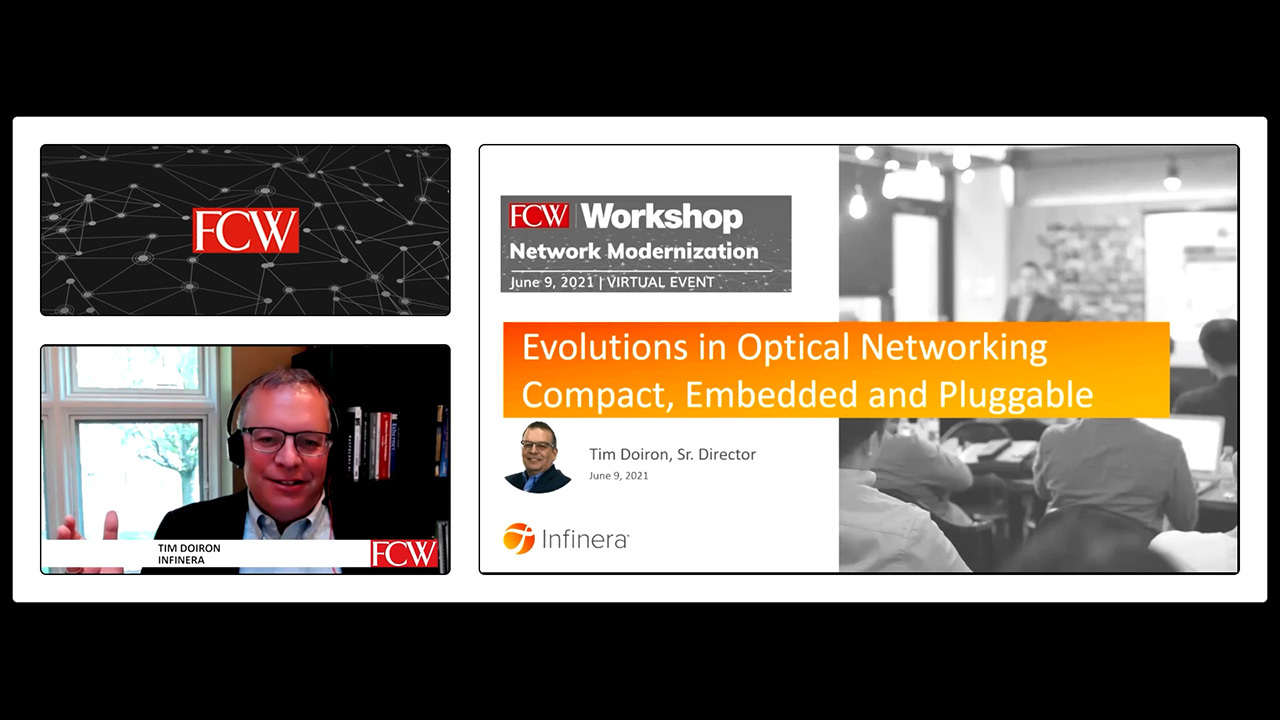 Evolutions in Optical Networking compact, Embedded and Pluggable with Tim Doiron image and FCW