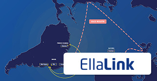 EllaLink logo and subsea route map