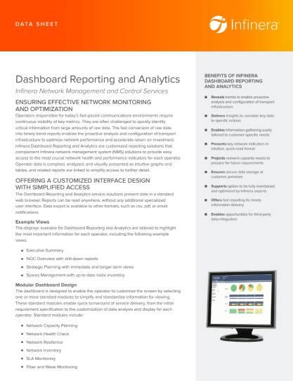 Thumbnail of Datasheet dashboard reporting and analytics