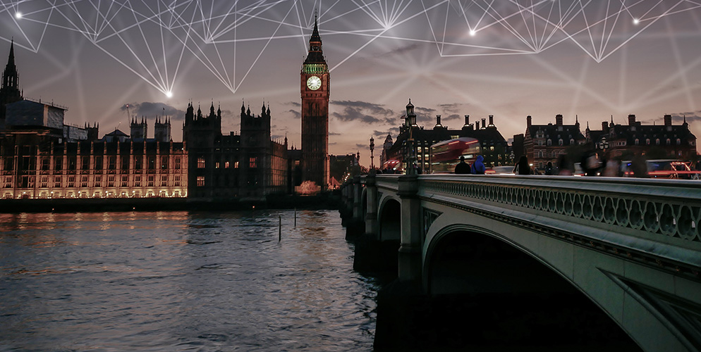 big ben in england with network marks