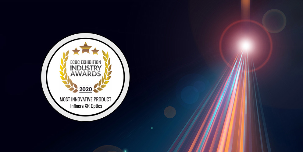 ECOC industry award for most innovative product Infinera XR optics